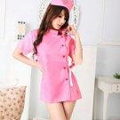 Lingerie Nurse Role Play Dress Pink