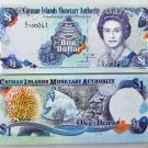 CAYMAN Island 1 DOLLAR 2001 Circulated condition Banknote