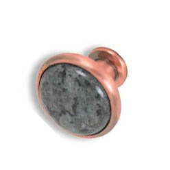 Cabinet konbs-brushed Antique copper- Blue Pearl