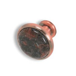 Cabinet konbs-brushed Antique copper- Tan Brown