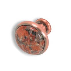 Cabinet konbs-brushed Antique copper- Terra Cotta