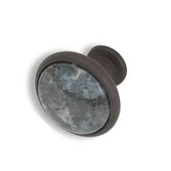 Cabinet knobs-Rustic Bronze- Blue Pearl