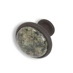 Cabinet knobs-Rustic Bronze-  China Green