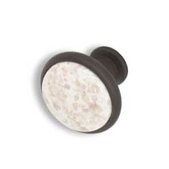 Cabinet knobs-Rustic Bronze- Pearl White