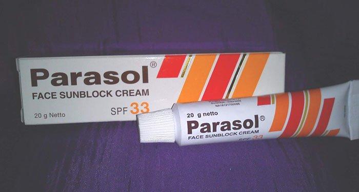 Parasol Face Sunblock Cream SPF 33 All Skin UV Sun Guard Protection 20 Gr