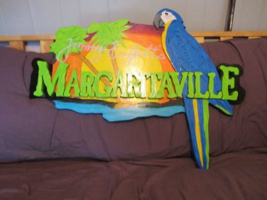 Handmade custom painted Margaritaville sign