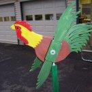 Handmade Handpainted Wooden Rooster Whirligig