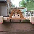 Handmade Custom Wooden Functional Mrs Wilson Rail Pet or Fence Sitter