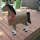 Large Handmade custom painted, functional horse mailbox