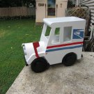 Handmade custom painted, functional,modern mail truck mailbox