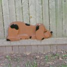 Handmade Custom Wooden Functional  Lazy Puppy Rail Pet or Fence Sitter