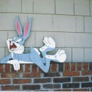 Handmade Custom Wooden Functional Cartoon Rabbit Rail Pet or Fence Sitter
