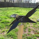 Handmade Handpainted Wooden Baltimore Ravens Whirligig