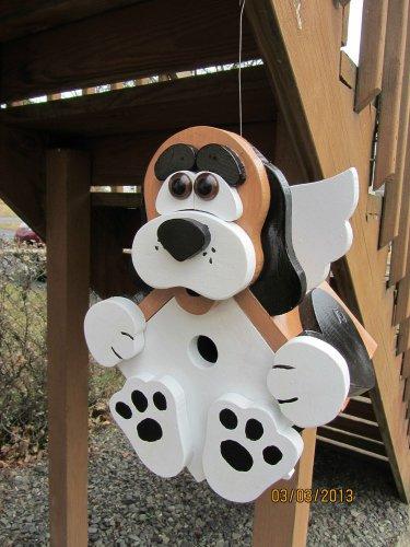 "Handmade Custom Wooden ""Bird Dog"" Functional Birdhouse"