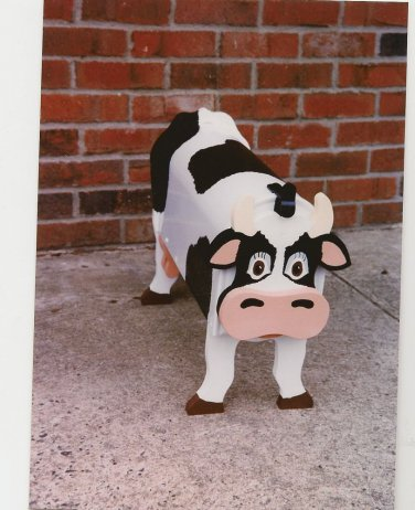 Handmade custom painted, functional,cow mailbox