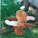 Handmade Handpainted Wooden Bear Whirligig