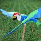 Handmade handpainted wooden Parrot  Whirligig