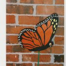 "Handmade wooden custom painted ""Monarch Butterfly"" stake for your yard"