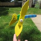 Handmade Handpainted Wooden Silly Dragonfly Whirligig