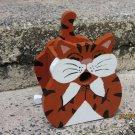 Handmade Custom Wooden Functional Smiling Cat Birdhouse