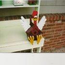 Handmade Custom Wooden Functional Rooster Birdhouse