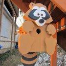 Handmade Custom Wooden Functional Raccoon Birdhouse