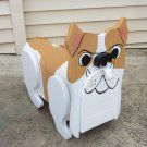 Handmade custom painted, functional bulldog mailbox