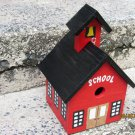 Handmade Custom Wooden Functional Schoolhouse Birdhouse