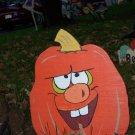 Handmade painted Jack O' Lantern yard stakes