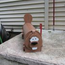 Handmade custom painted, functional,beaver mailbox