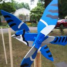 Handmade Blue Jay Bird shaped whirligigs for your yard
