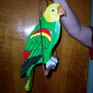 handmade custom painted Parrot on a perch