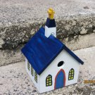 Handmade Custom Wooden Functional Church Birdhouse