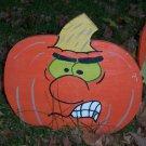 Handmade painted Jack O' Lantern yard stake number 4