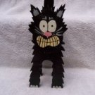"Handmade Halloween 3 Dimensional ""Scary Black Cat"""