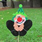 Handmade wooden custom painted Clown sign for your yard