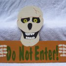 Handmade Wooden Skeleton Do Not Enter Halloween yard stake