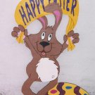 Handmade custom painted Easter bunny with Happy Easter sign for your yard
