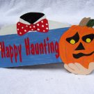 Handmade Wooden Happy Haunting Headless Halloween yard stake