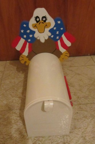 Handmade Wooden Patriotic Eagle Greeter for your mailbox