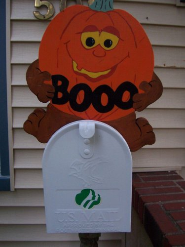 Handmade Wooden Pumpkin for your mailbox or table