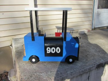 Handmade custom designed functional Custom Golf Cart Mailbox