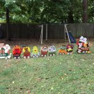 Handmade painted Monster Express Halloween Train with Seven cars