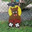 Handmade painted Monster Express Halloween Werewolf train car