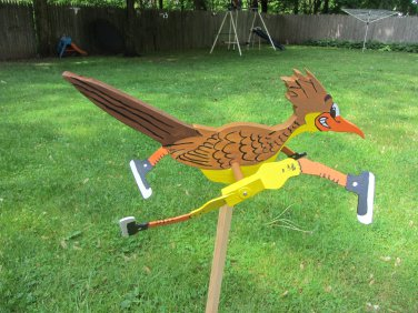 Handmade Road Runner shaped whirligigs for your yard