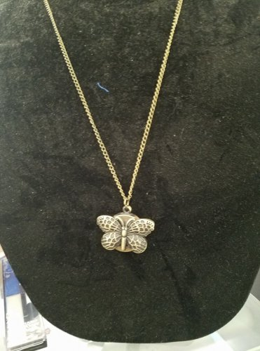 Butterfly necklace with watch