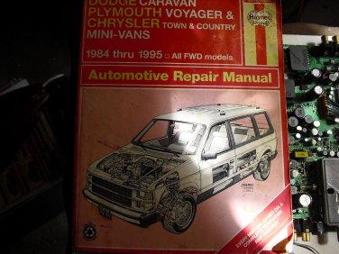 haynes  30010   (1231)dodge   caravan 1984-1995