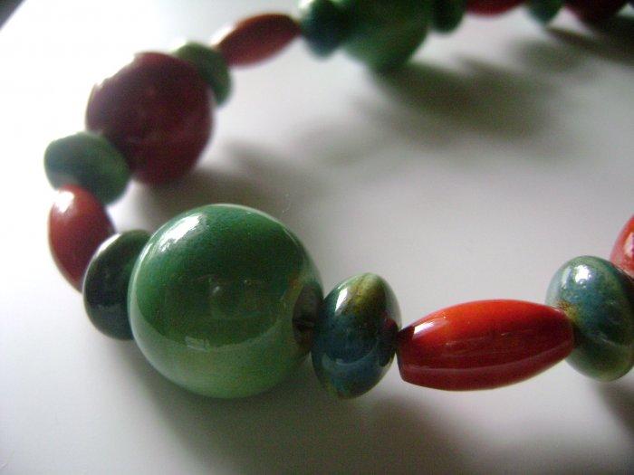 Tropical Porcelain Necklace