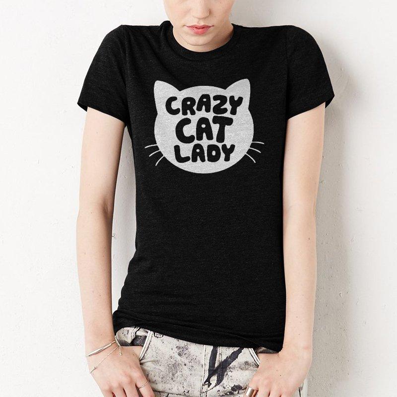 Crazy Cat Lady Funny Women T-Shirt