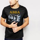 New Rare Men T-Shirt ABBA Logo